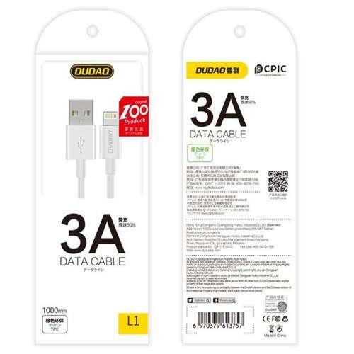 Dudao przewód kabel USB / micro USB 3A 1m biały (L1M white)