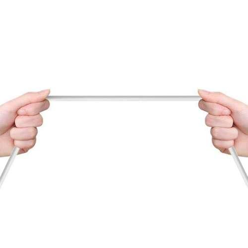 Dudao przewód kabel micro USB 2.4A 1m biały (L4M 1m white)