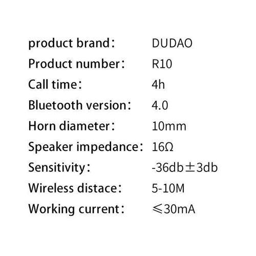 Dudao zestaw samochodowa ładowarka 2x USB 3.4A + zestaw słuchawkowy słuchawka Bluetooth czarny (R10 black)