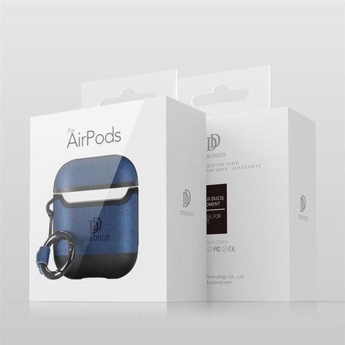 Dux Ducis etui na słuchawki Apple AirPods 2 / AirPods 1 z ekologicznej skóry szary