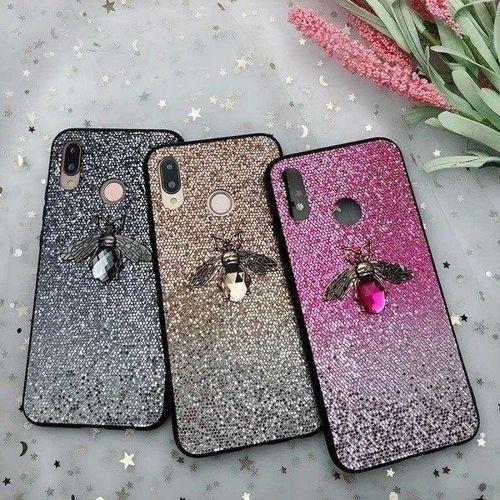 Etui Bee Glitter IPHONE 11 PRO różowe