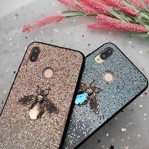 Etui Bee Glitter IPHONE 7 różowe