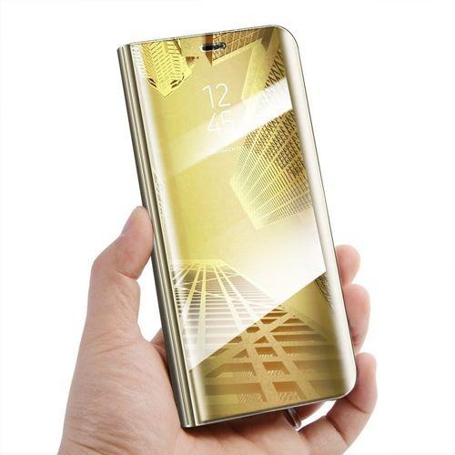 Etui Clear View Cover SAMSUNG A7 2018 złote