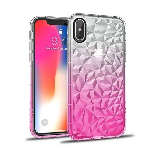 Etui Diamond Ombre HUAWEI Y6  2018 różowe