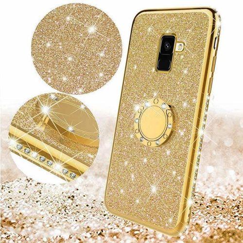 Etui Diamond Ring Brokat XIAOMI REDMI NOTE 7 złote