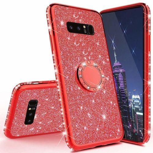 Etui Diamond Ring Glitter Brokat HUAWEI P30 LITE czerwone