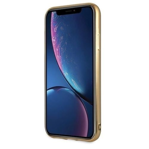 Etui Guess GUHCI61PEOLGGO iPhone Xr złoty /gold hard case 4G Peony Liquid Glitter