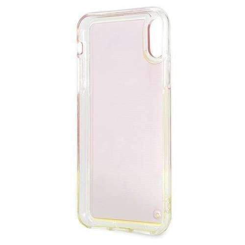 Etui Guess GUHCPXGLCPI iPhone X/Xs różowy /pink hard case California Glow in the dark