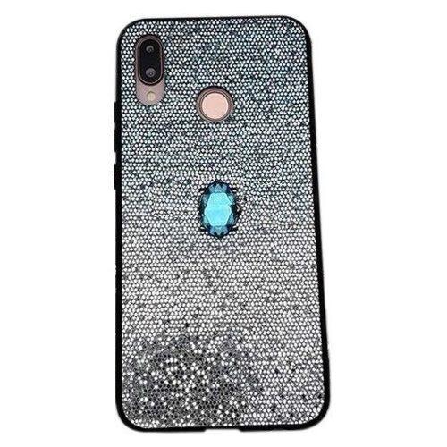 Etui HUAWEI MATE20 LITE Stone Glitter niebieskie