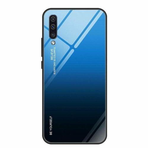 Etui HUAWEI Y5 2019 Szklane Glass Case Gradient czarno-niebieskie