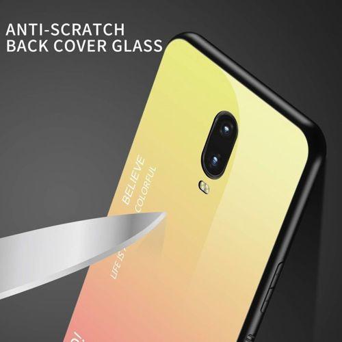 Etui HUAWEI Y5 2019 Szklane Glass case Gradient jasny róż