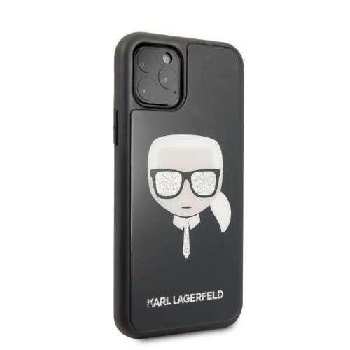 Etui Karl Lagerfeld KLHCN58DLHBK iPhone 11 Pro czarny/black Iconic Glitter Karl`s Head