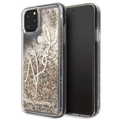 Etui Karl Lagerfeld KLHCN65TRKSGO iPhone 11 Pro Max złoty/gold Glitter Signature