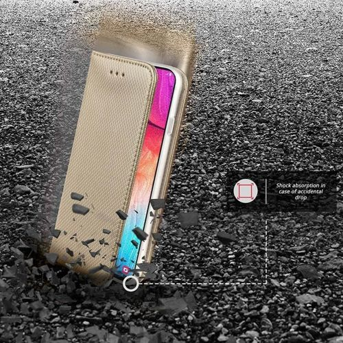 Etui MOTOROLA MOTO E6 portfel z klapką Flip Magnet złote