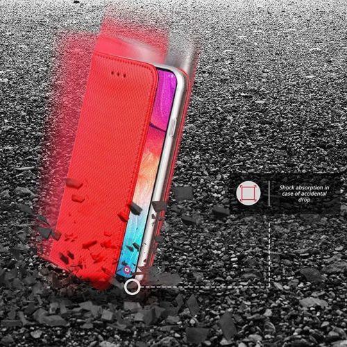 Etui MOTOROLA MOTO ONE VISION portfel z klapką Flip Magnet czerwone