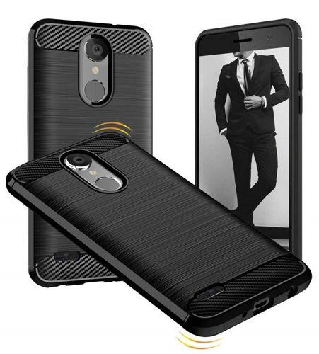 Etui Pancerne Carbon LG K30 czarne