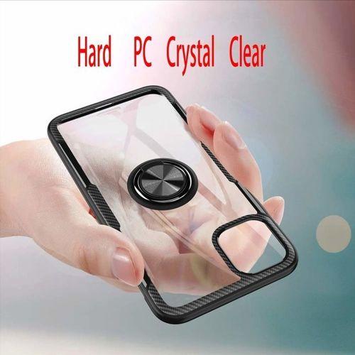 Etui Pancerne Clear Carbon Ring IPHONE 11 czarne