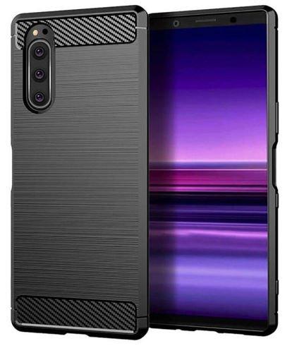 Etui Pancerne KARBON Sony XPERIA 5 czarny