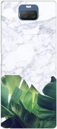 Etui ROAR JELLY marmurowe liście na Sony Xperia 10