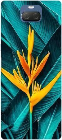 Etui ROAR JELLY żółty kwiat i liście na Sony Xperia 10