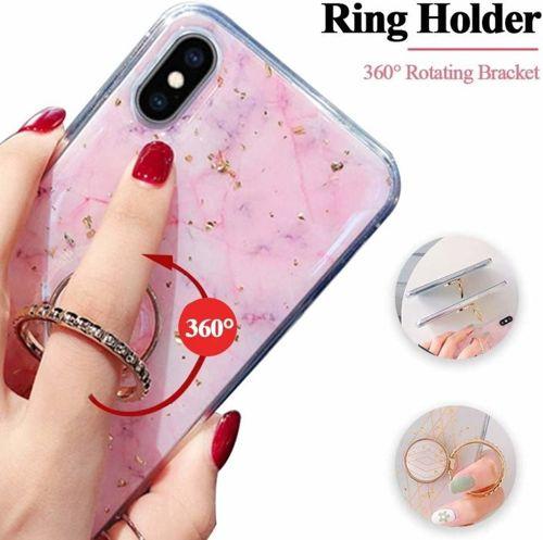 Etui SAMSUNG GALAXY A50 Marble Ring jasny róż