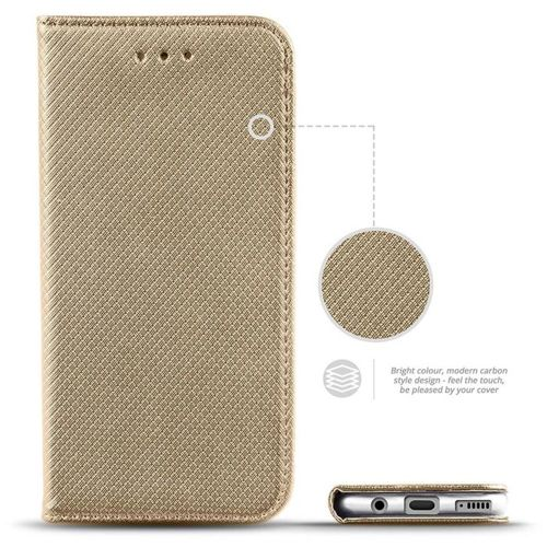 Etui Samsung Galaxy A51 portfel z klapką Flip Magnet złote