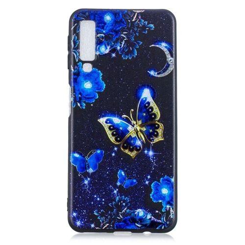 Etui Slim Art SAMSUNG A7 2018 niebieski motyl