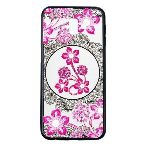 Etui Slim Art SAMSUNG J6+ J6 PLUS różowy kwiat