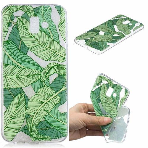 Etui Slim Art SAMSUNG J6+ J6 PLUS zielone liście