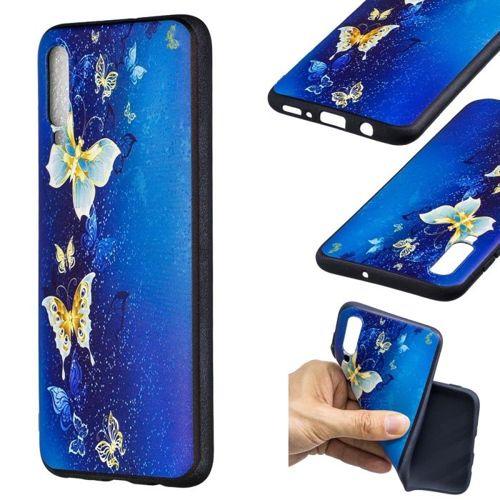 Etui Slim Case Art Samsung Galaxy A70 niebieski motyl