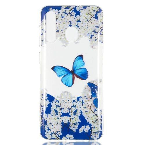 Etui Slim case Art SAMSUNG GALAXY A50 motyl i białe kwiaty