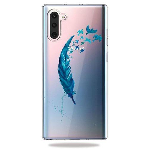 Etui Slim case Art Wzory SAMSUNG GALAXY NOTE 10 / NOTE 10 5G niebieskie pióra