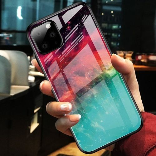 Etui Szklane Glass case Art IPHONE 11 PRO 5.8 kolorowa mgławica