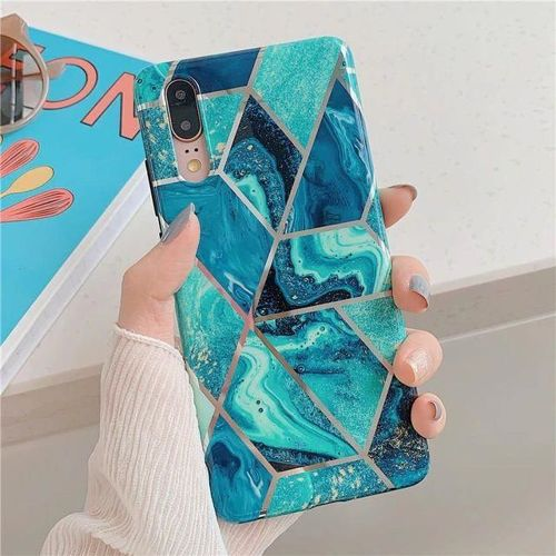Etui TECH-PROTECT MARBLE Samsung Galaxy A51 BLUE
