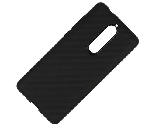 Etui Twill Texture  NOKIA 5.1 czarne