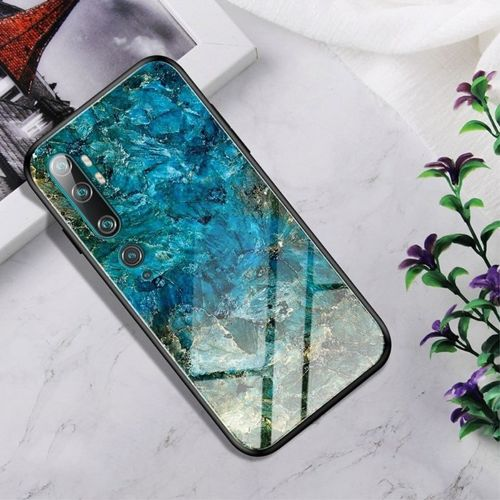 Etui XIAOMI MI NOTE 10 Szklane Glass case Gradient Color emerald