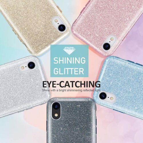 Etui XIAOMI REDMI 6A Brokat Glitter srebrne