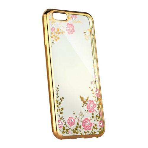 Etui XIAOMI REDMI 8 elastyczne żelowe Back case flower złote