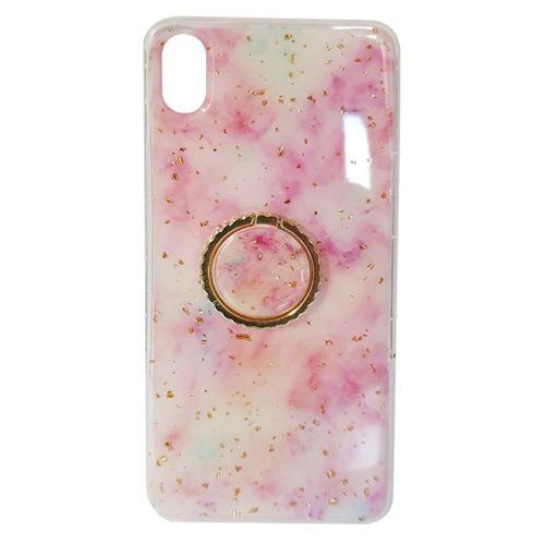 Etui XIAOMI REDMI NOTE 7 Marble Ring jasny róż