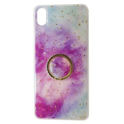 Etui XIAOMI REDMI NOTE 8 Marble Ring fioletowo-niebieskie