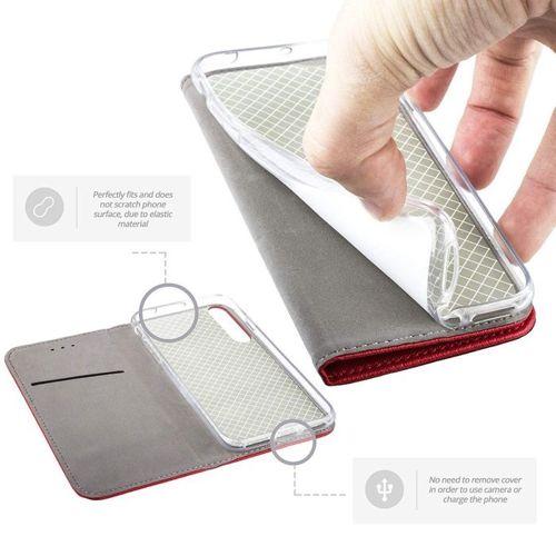 Etui XIAOMI REDMI NOTE 8T portfel z klapką Flip Magnet czerwone