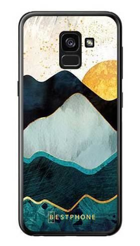 Etui art deco słońce na Samsung Galaxy A7 2018