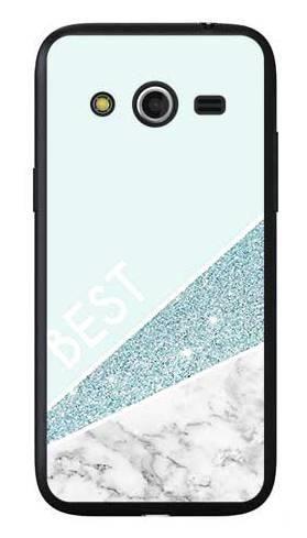 Etui dla przyjaciół friends glitter niebieski na Samsung Galaxy Core LTE