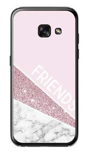 Etui dla przyjaciół friends glitter różowy na Samsung Galaxy A3 2017