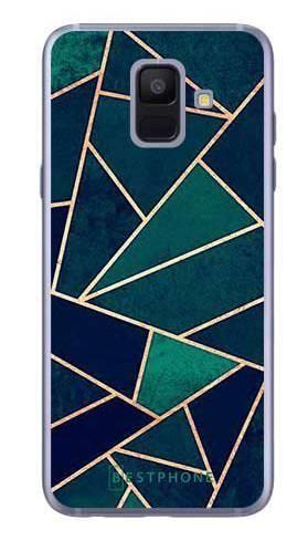 Etui geometria turkus na Samsung Galaxy A6