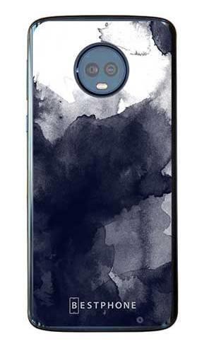 Etui granatowa akwarela na Motorola Moto G6 Plus