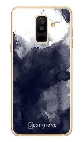 Etui granatowa akwarela na Samsung Galaxy A6 Plus