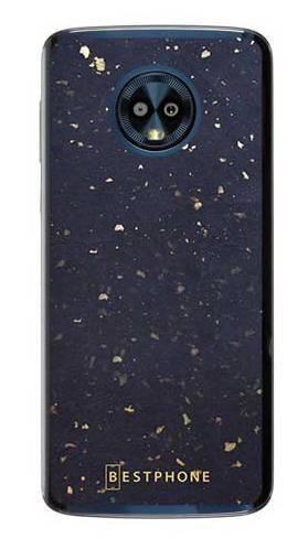 Etui lastriko granatowe na Motorola Moto G6