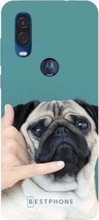 Etui mops call me na Motorola MOTO ONE VISION