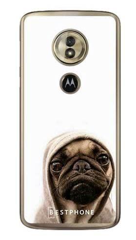 Etui mops na białym tle na Motorola Moto G6 Play